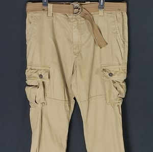 Mens Old Navy Tan Cargo Pants Size 38/30